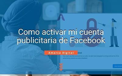 como activar mi cuenta publicitaria de Facebook