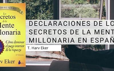 Declaraciones de los secretos de la mente millonaria en español